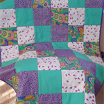Cot Quilt - Purple Patch