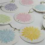 Pretty Daisies letterpress linocut bunting