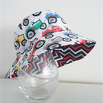 Boys summer hat in bright tractor fabric