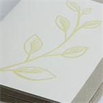 Rustic sprig linocut letterpress greeting card
