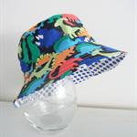 Boys bright summer hat in dinosaur fabric