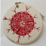 Red snowflake Christmas tags pack of 5