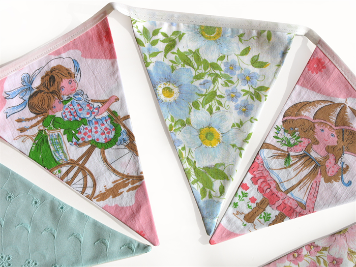 Holly Hobbie And Friends Vintage Floral Flag Bunting