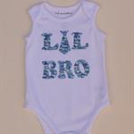 Baby Boy's White Sleeveless 'Lil Bro' Onesie - Size 0 (203)