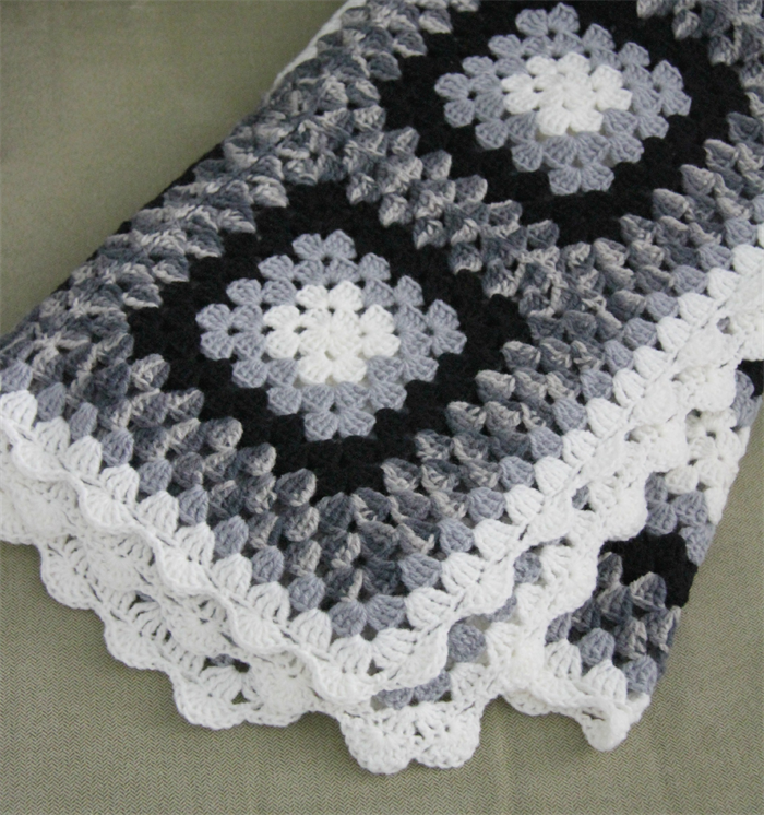 Crochet Blanket Black And White Crochet Blanket Black