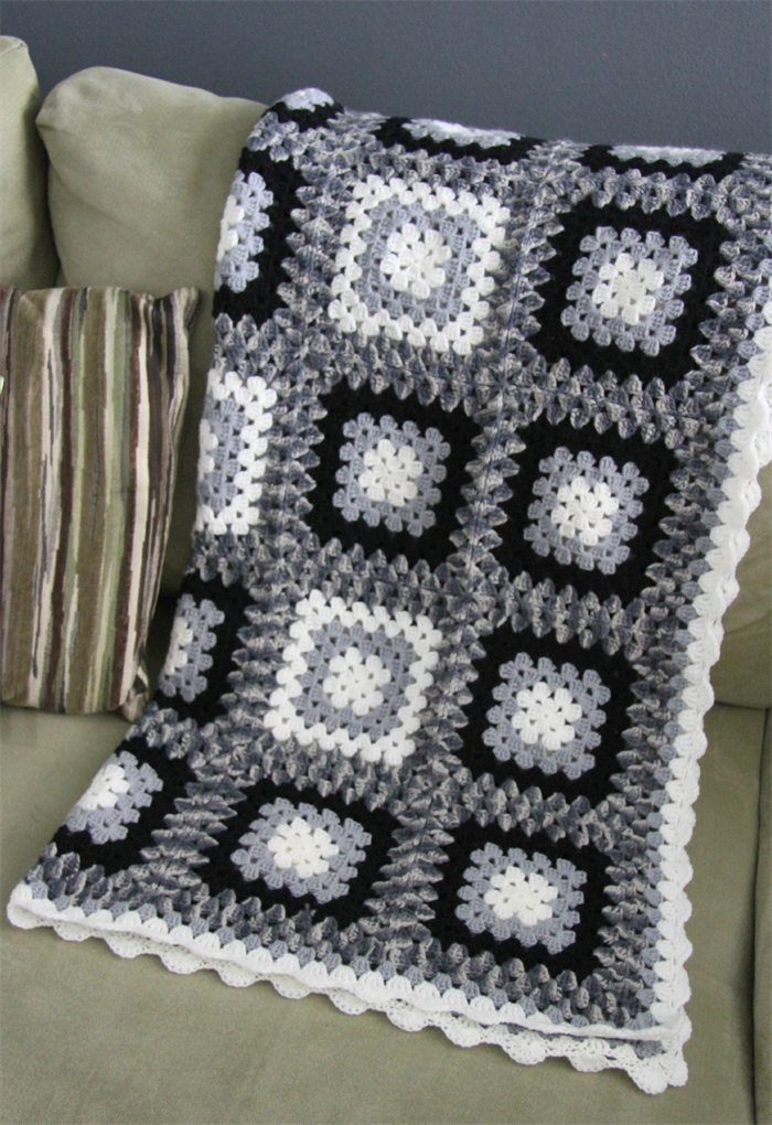 Crochet Blanket Black And White Crochet Blanket Black White