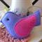 Purple Felt Bird Decoration