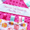 *FREE POST* ~ DOTTY DAISIES ~  Baby Security Taggie  + FREE Taggie Saver