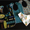 Boys Hawaiian Bib and bandana set