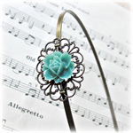 Headband. Metal. Michaela. Filigree. Flower. Sea Green Turquoise. Alice Band.