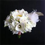 Lotus White Spirit Brides Bouquet