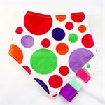 BANDANA DRIBBLE TEETHING SENSORY BIB for GIRLS