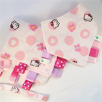 BABY GIRL Taggie Comforter & Matching Bandana Dribble Teething Sensory Bib Set
