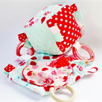 Block,Cuddly and Teether Set in Cherry Design