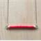 RED COLOUR BASICS BAR NECKLACE - FREE SHIPPING WORLDWIDE