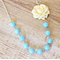 Alkirah Necklace Cream Blue Sky Silver Candyland Vintage Beaded