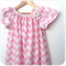 Sizes 2-6 Smock & Brooch Set - Chevron - Pink - White - Girls -