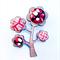 Kimono Tree Brooch - Ruby Red Leaves
