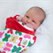 Stroller blanket - Bright butterflies with red minky