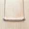 CLEAR COLOUR BASICS BAR NECKLACE - FREE SHIPPING WORLDWIDE