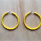 LARGE YELLOW COLOUR BASICS HOOP EARRINGS - FREE SHIPPING WORLDWIDE
