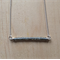 GREY (TRANSPARENT) COLOUR BASICS BAR NECKLACE - FREE SHIPPING WORLDWIDE