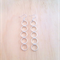 EXTRA SMALL SIMPLE SILVER FIVE CIRCLE EARRINGS - FREE SHIPPING WORLDWIDE
