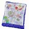 Stroller blanket - Springtime theme with violet minky
