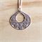 SMALL MATTE SILVER SIMPLE FILIGREE PENDANT NECKLACE - FREE SHIPPING WORLDWIDE