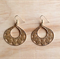 SMALL MATTE GOLD SIMPLE FILIGREE EARRINGS - FREE SHIPPING WORLDWIDE