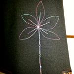 Black Skirt with Flower & Bamboo Stretch Waist