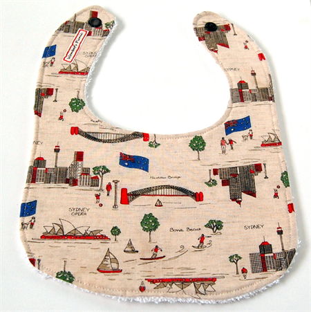 Sydney Travel Icon Baby Bib