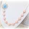 Lyndel Necklace Pastel Coral Sky Blue Silver Candyland Vintage Beaded
