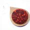 Giant Raindrop Pendant - Blood Red, Black Floral