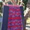 Cherry & denim A line panel skirt
