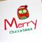 Merry Christmas card with Christmas Owl - handmade!