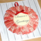 Merry Christmas card with handmade wreath - red