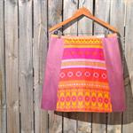 Ombré purple A line skirt