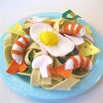 Stir Fry Noodle, Prawns, Egg Felt Play Food Set
