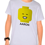 Boys Personalised Lego TShirt - from the Lego Movie!
