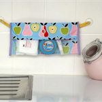 Storage Bag, Hair accessory organiser. Pastel Fruit
