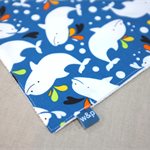 wash or burp cloth - dolphins / organic cotton bamboo towelling / boy or girl