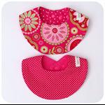 Set of 2 Dribble Bibs - girls - pink - spots - flowers