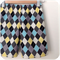 Size 3 -  Shorts - Diamonds - Retro - Blue - Black - Yellow