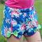 Blue Flower Bow Tie Shorts Size 8