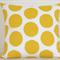 Yellow Spot Designer Cushion Cover