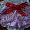 Pink strawberry fields hotpants with bow sz 000 to 4