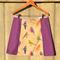 Birds & purple A line panel skirt