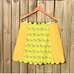 Zebras & yellow A line panel skirt