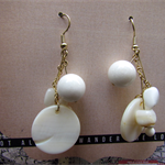 White Cluster earrings